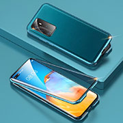 Luxury Aluminum Metal Cover Case T01 for Huawei P40 Pro Cyan