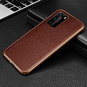 Luxury Aluminum Metal Cover Case T04 for Huawei P40 Pro Brown