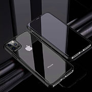 Luxury Aluminum Metal Frame Mirror Cover Case 360 Degrees T06 for Apple iPhone 12 Pro Black