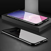Luxury Aluminum Metal Frame Mirror Cover Case 360 Degrees T06 for Samsung Galaxy S10 Black