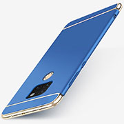 Luxury Metal Frame and Plastic Back Cover Case T01 for Huawei Mate 20 Blue