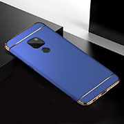 Luxury Metal Frame and Plastic Back Cover Case T02 for Huawei Mate 20 Blue