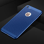 Mesh Hole Hard Rigid Snap On Case Cover for Apple iPhone SE (2020) Blue