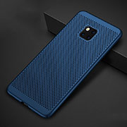 Mesh Hole Hard Rigid Snap On Case Cover for Huawei Mate 20 Pro Blue