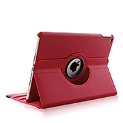 Rotating Stands Flip Leather Case for Apple iPad Air 2 Red