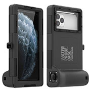 Silicone and Plastic Waterproof Case 360 Degrees Underwater Shell Cover for Apple iPhone SE (2020) Black