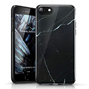 Silicone Candy Rubber Marble Pattern Soft Case for Apple iPhone SE (2020) Black