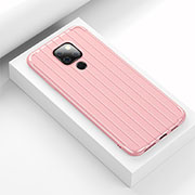 Silicone Candy Rubber TPU Line Soft Case Cover C01 for Huawei Mate 20 Pink