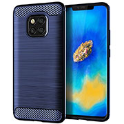 Silicone Candy Rubber TPU Line Soft Case Cover C02 for Huawei Mate 20 Pro Blue