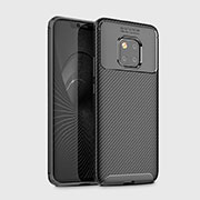 Silicone Candy Rubber TPU Twill Soft Case Cover Y02 for Huawei Mate 20 Pro Black