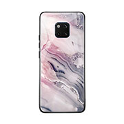 Silicone Frame Fashionable Pattern Mirror Case Cover K03 for Huawei Mate 20 Pro Mixed