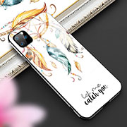 Silicone Frame Fashionable Pattern Mirror Case Cover M02 for Apple iPhone 11 Pro Yellow