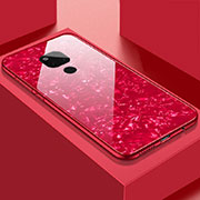 Silicone Frame Mirror Case Cover T01 for Huawei Mate 20 Red