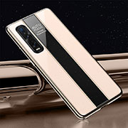 Silicone Frame Mirror Case Cover T01 for Oppo Find X2 Pro Gold