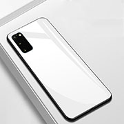 Silicone Frame Mirror Case Cover T01 for Samsung Galaxy S20 5G White