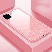 Silicone Frame Mirror Case Cover T06 for Apple iPhone 11 Pro Pink