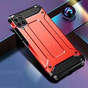 Silicone Matte Finish and Plastic Back Cover Case R01 for Huawei P40 Lite Red