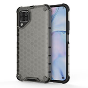 Silicone Matte Finish and Plastic Back Cover Case R02 for Huawei P40 Lite Gray