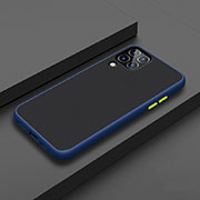 Silicone Matte Finish and Plastic Back Cover Case U01 for Huawei P40 Lite Blue