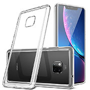 Silicone Transparent Mirror Frame Case Cover H01 for Huawei Mate 20 Pro White