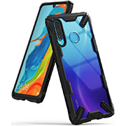 Silicone Transparent Mirror Frame Case Cover H02 for Huawei P30 Lite Black