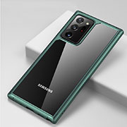 Silicone Transparent Mirror Frame Case Cover H02 for Samsung Galaxy Note 20 Ultra 5G Green