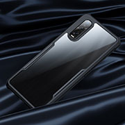 Silicone Transparent Mirror Frame Case Cover M02 for Oppo Find X2 Pro Black