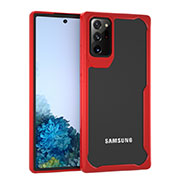 Silicone Transparent Mirror Frame Case Cover M02 for Samsung Galaxy Note 20 Ultra 5G Red