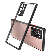 Silicone Transparent Mirror Frame Case Cover N02 for Samsung Galaxy Note 20 Ultra 5G Black