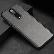 Soft Luxury Leather Snap On Case Cover for Xiaomi Redmi K30 5G Gray