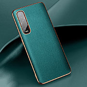 Soft Luxury Leather Snap On Case Cover R01 for Oppo Find X2 Pro Green