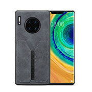 Soft Luxury Leather Snap On Case Cover R02 for Huawei Mate 30 Pro Gray