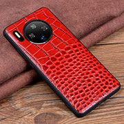 Soft Luxury Leather Snap On Case Cover R03 for Huawei Mate 30 Pro Red