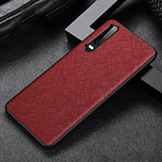 Soft Luxury Leather Snap On Case Cover R04 for Huawei P30 Red