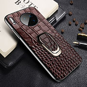 Soft Luxury Leather Snap On Case Cover R06 for Huawei Mate 30 Pro Brown