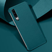 Soft Luxury Leather Snap On Case Cover R06 for Huawei P30 Green