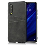 Soft Luxury Leather Snap On Case Cover R09 for Huawei P30 Black