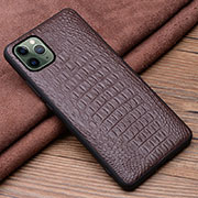 Soft Luxury Leather Snap On Case Cover R11 for Apple iPhone 11 Pro Max Brown