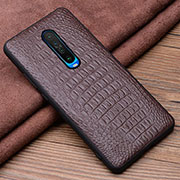 Soft Luxury Leather Snap On Case Cover S01 for Xiaomi Redmi K30 5G Brown