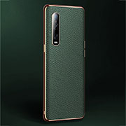 Soft Luxury Leather Snap On Case Cover U02 for Oppo Find X2 Pro Green