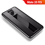 Soft Silicone Gel Leather Snap On Case Cover for Huawei Mate 20 RS Black