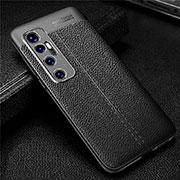 Soft Silicone Gel Leather Snap On Case Cover for Xiaomi Mi 10 Ultra Black