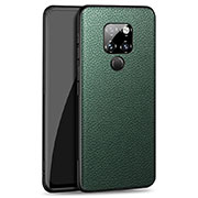 Soft Silicone Gel Leather Snap On Case Cover H06 for Huawei Mate 20 Green
