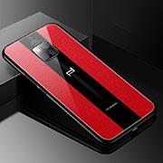 Soft Silicone Gel Leather Snap On Case Cover S01 for Huawei Mate 20 RS Red