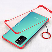 Transparent Crystal Hard Case Back Cover H01 for OnePlus 8T 5G Red