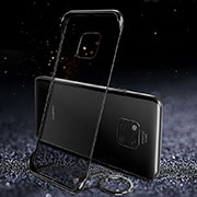 Transparent Crystal Hard Rigid Case Back Cover S01 for Huawei Mate 20 Pro Black