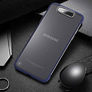 Transparent Crystal Hard Rigid Case Back Cover S02 for Samsung Galaxy A80 Blue