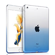 Ultra Slim Transparent Gel Gradient Soft Case for Apple iPad Air Blue
