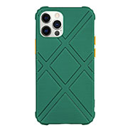 Ultra-thin Silicone Gel Soft Case 360 Degrees Cover C02 for Apple iPhone 12 Pro Green