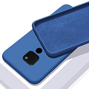 Ultra-thin Silicone Gel Soft Case 360 Degrees Cover C08 for Huawei Mate 20 Blue